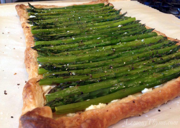 Asparagus & Goat Cheese Tart