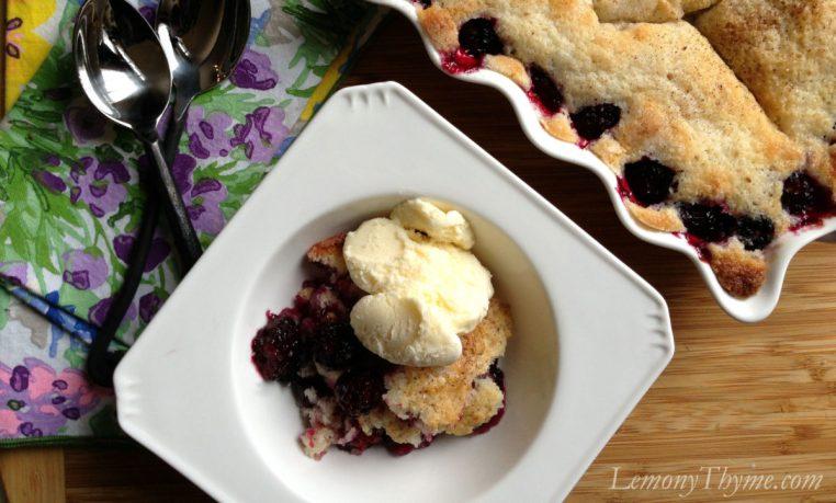 Blackberry Buttermilk Cobbler