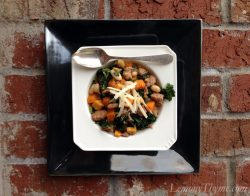 Kale with Sausage White Beans & Butternut Squash