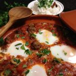 Kefta Mkaouara {Spicy Meatballs & Tomato Tagine with Poached Eggs}