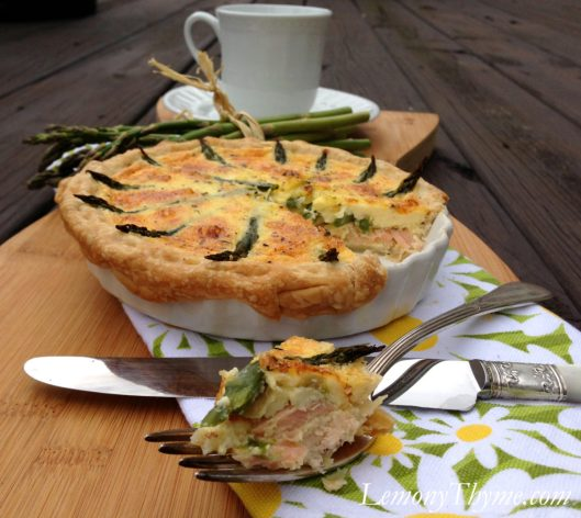 Salmon & Asparagus Quiche