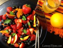 Peach, Berry & Basil Salad with Orange Vinaigrette