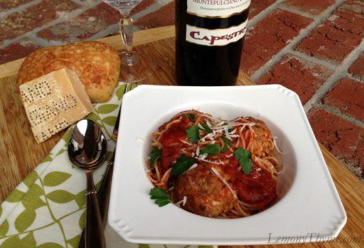 Spaghetti & Turkey Meatballs