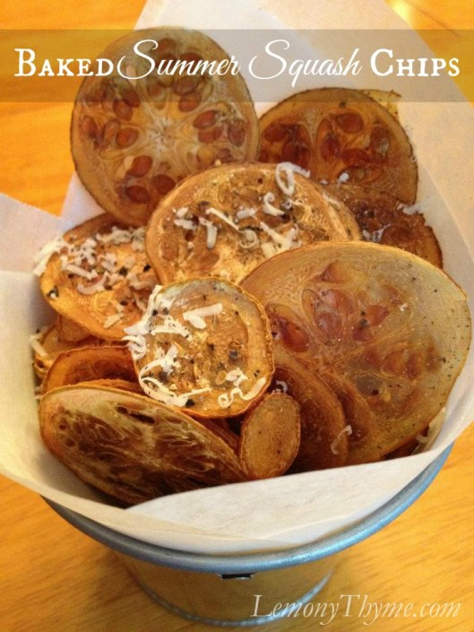 Baked Summer Squash Chips from Lemony Thyme