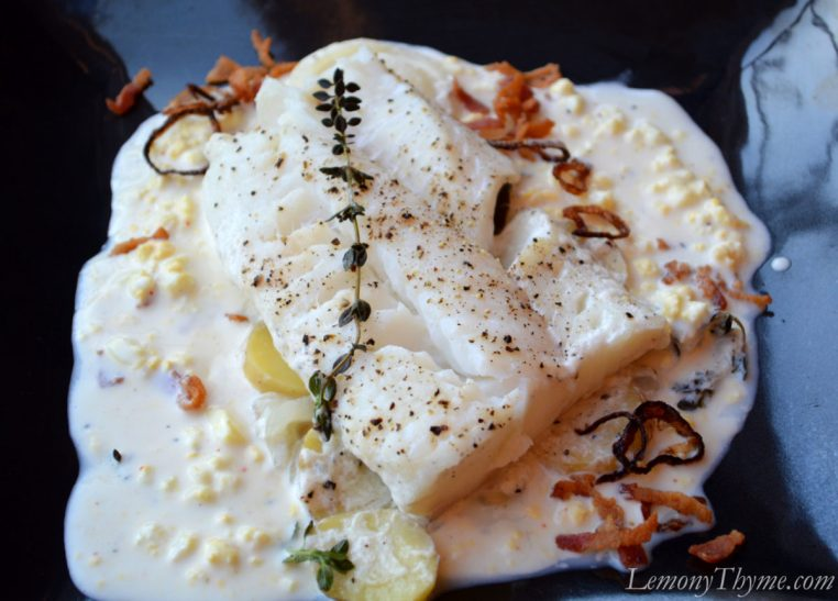 Cod & Potatoes Poached in Milk