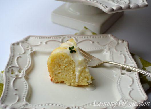 Lemony Thyme Pound Cake with Lemon Glaze