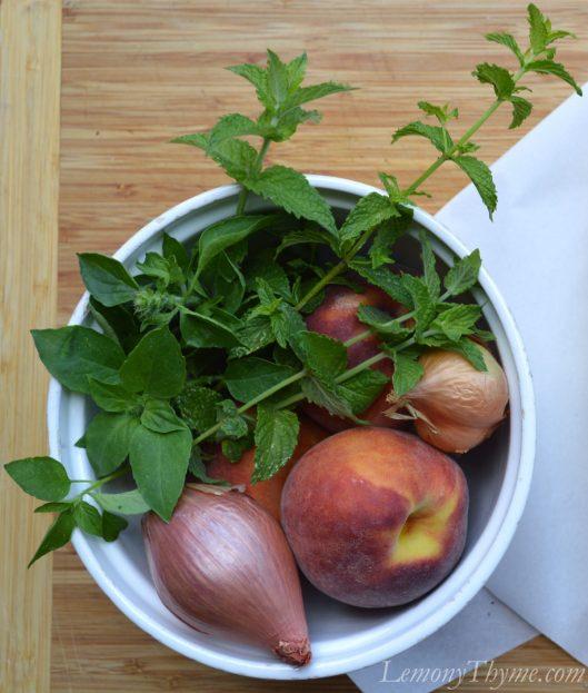 Peach Basil Relish