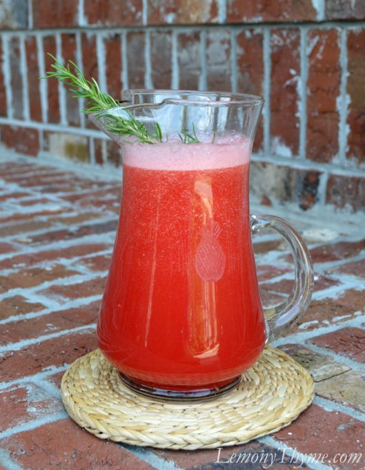 Rosemary Watermelon Juice