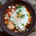 Smoky Shrimp Diablo with Baked Eggs