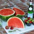 Summer Thyme Sangria with Watermelon & Rosemary