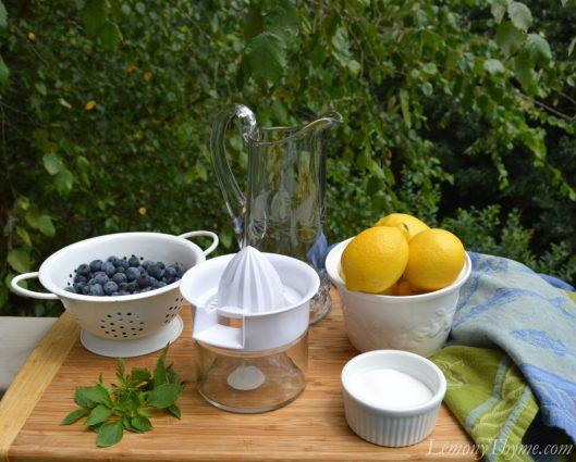Blueberry Basil Lemonade