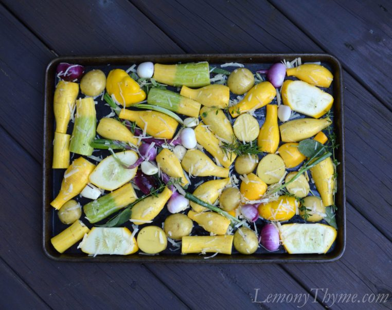 Parmesan Herb Roasted Veggies