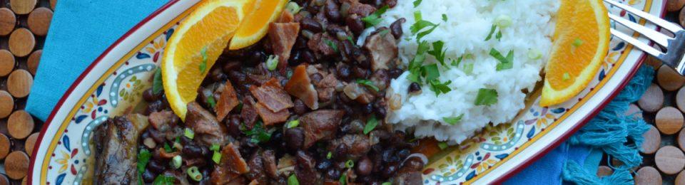 Brazilian Feijoada {Pork, Beef & Back Bean Stew}