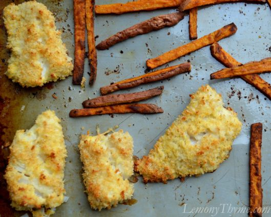 Parmesan Crusted Homemade Fish Sticks