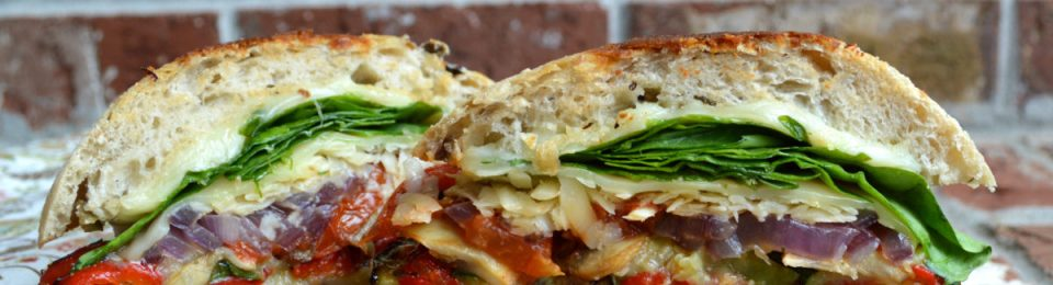 Roasted Italian Veggie Grilled Cheese Sandwich