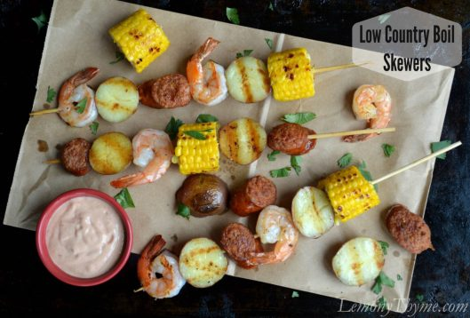 Low Country Boil Skewers from Lemony Thyme