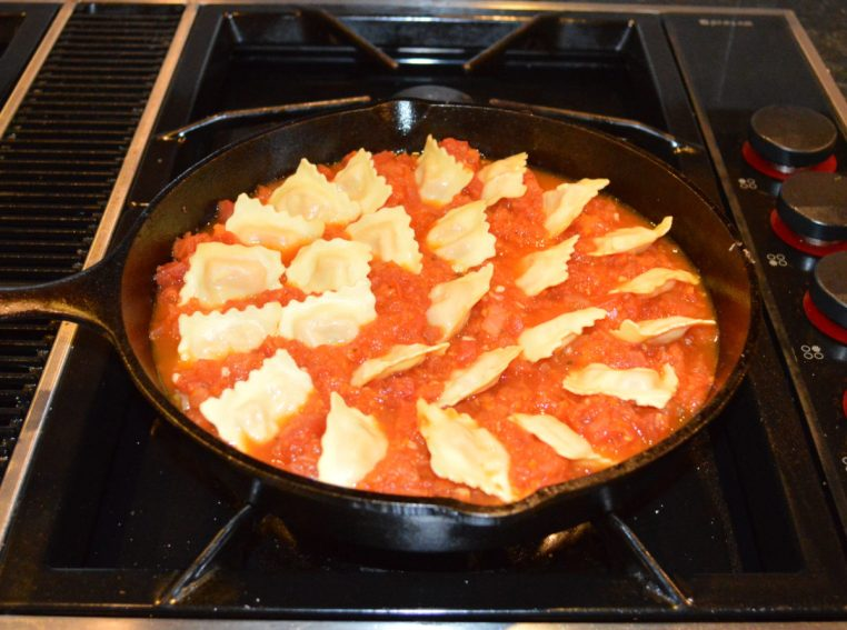 Skillet Ravioli Bake