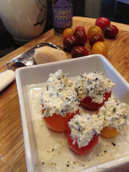 Spinach Artichoke Stuffed Tomatoes