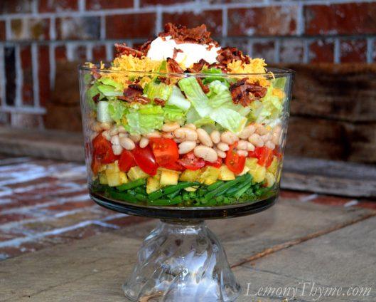 Warm 7-Layer Salad