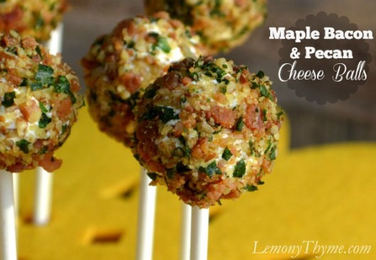 Maple Bacon & Pecan Cheese Balls from Lemony Thyme