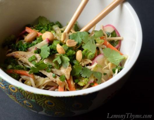 Thai Peanut Chicken Noodle Bowl