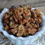 Vanilla, Almond & Cranberry Quinoa Granola