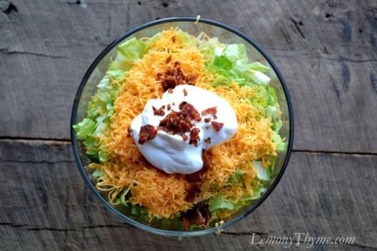 Warm 7-Layer Salad Layer 7