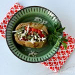 Baked Potato with Tomato & Basil Pesto