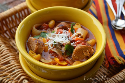 Italian Sausge, Peppers & Onions Soup7