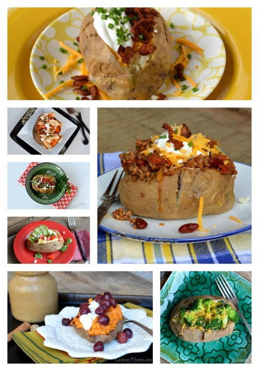 Perfectly Baked Potatoes Collage