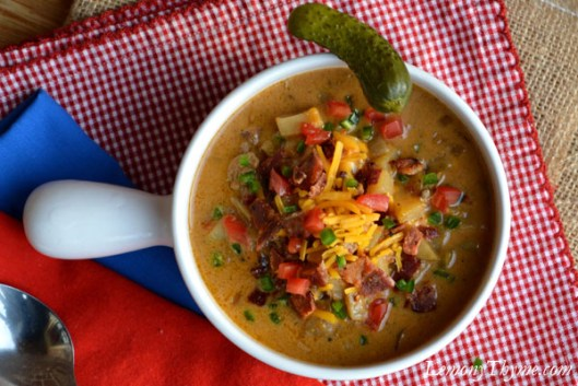 Bacon Jalapeno Cheeseburger Soup1