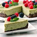 Green Tea White Chocolate Cheesecake