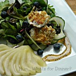 Maple Poached Pear Salad