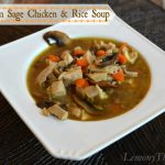 Mushroom Sage Chicken & Rice Soup