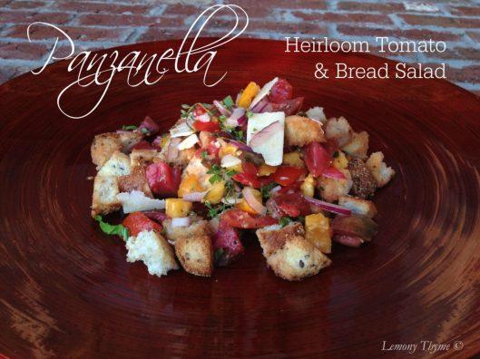 Panzanella Heirloom Tomato & Bread Salad from Lemony Thyme