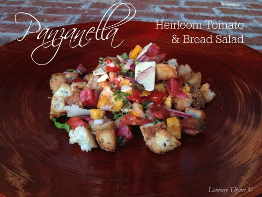 Panzanella Heirloom Tomato & Bread Salad from Lemony Thyme