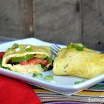 Avocado Tomato & Basil Omelet