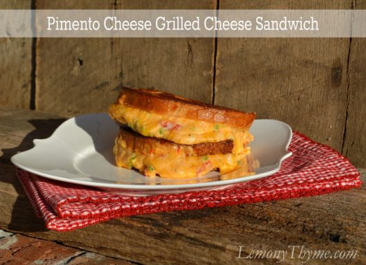 Pimento Cheese Grilled Cheese Sandwich from Lemony Thyme