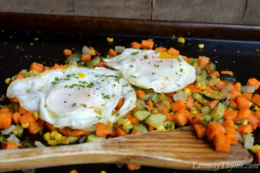 Roasted Veggie Oven Hash with Fried Eggs3