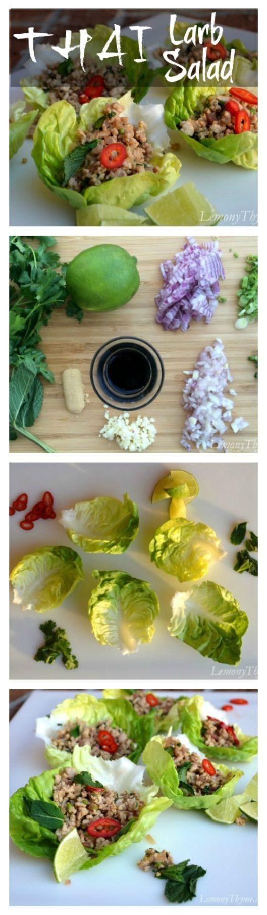 Thai Larb Salad | LemonyThyme.com | #thaifood