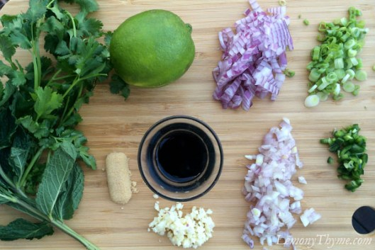 Thai Larb Salad Ingredients