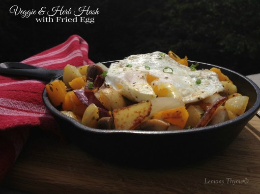 Veggie & Herb Hash with Fried Egg
