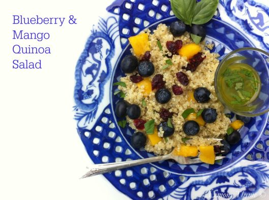 Blueberry Mango Quinoa Salad from Lemony Thyme