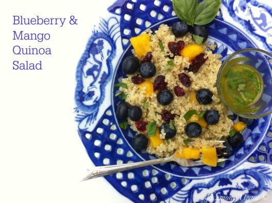 Blueberry Mango Quinoa Salad from Lemony Thyme