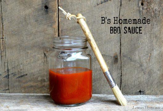 B's Homemade BBQ Sauce from Lemony Thyme