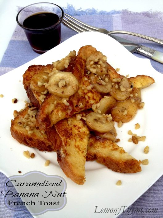 Caramelized Banana Nut French Toast from Lemony Thyme