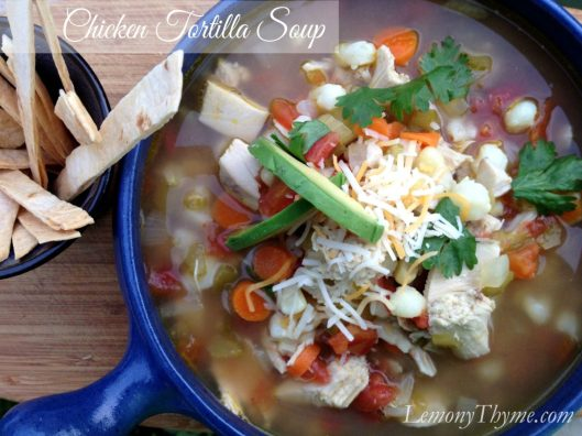 Chicken Tortilla Soup from Lemony Thyme