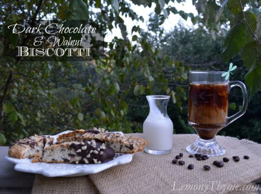 Dark Chocolate & Walnut Biscotti from Lemony Thyme1