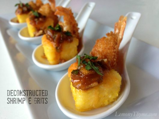 Deconstructed Shrimp & Grits from Lemony Thyme