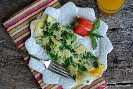 Inside Out Fresh Herb Omelet